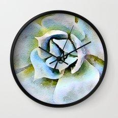 Shady Succulent Wall Clock