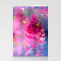 Spring floral paint 1 Stationery Cards
