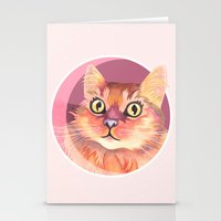 Miss Meowgi Stationery Cards