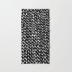 Hand Knitted Black S Hand & Bath Towel