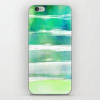 waves - turquoise iPhone & iPod Skin