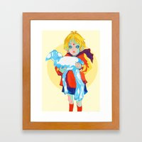 Little Prince and his sheep Framed Art Print