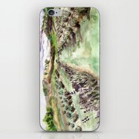 Purple up over the hills iPhone & iPod Skin