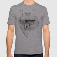 Fox Specs Mens Fitted Tee Athletic Grey SMALL