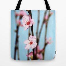 Pretty Pink Peach Petals Tote Bag