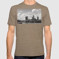 London Skyline on the River Thames Mens Fitted Tee Tri-Coffee SMALL