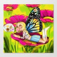 Bug Girls: Social Butter… Canvas Print