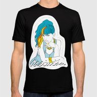 GRIMES OBLIVION Mens Fitted Tee Black SMALL