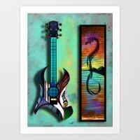 Acoustic Electric Art Print