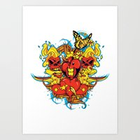 Butterfly touch  Art Print