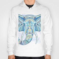 Blue Ethnic Elephant Hoody