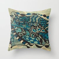 The States Of Water Throw Pillow