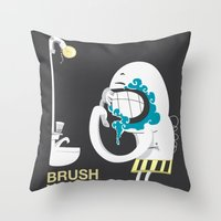 Brush your teeth Throw Pillow