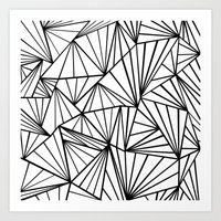 Ab Fan Zoom Invert  Art Print