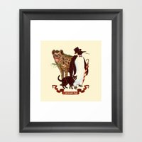 At the Arkham Zoo Framed Art Print