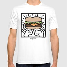 Pop Art Burger #1 Mens Fitted Tee White SMALL