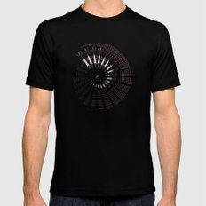 Little Universe Mandala SMALL Mens Fitted Tee Black