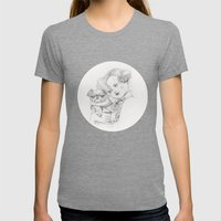 Vintage Pug Womens Fitted Tee Tri-Grey SMALL