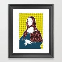 Mona Lisa SW+C X2 Framed Art Print