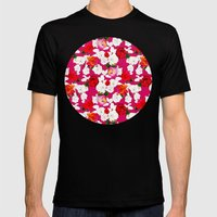Sweet Roses Mens Fitted Tee Black SMALL