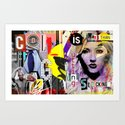 Collage is more than just cutting and sticking. Art Print