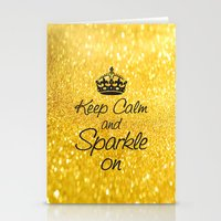 Keep Calm and Sparkle On Stationery Cards