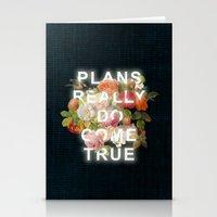 Plans Really Do Come Tru… Stationery Cards