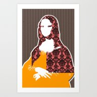 Mona Lisa SW+C X1 Art Print