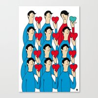 different heart Canvas Print