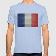 National Flag Of France … Mens Fitted Tee Tri-Blue SMALL