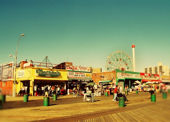 Coney Island luna park, New York Art Print