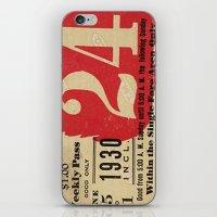 Vintage Tickets iPhone & iPod Skin