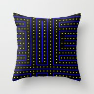 Pac Track! Throw Pillow