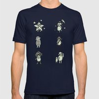 Sheep Mens Fitted Tee Navy SMALL