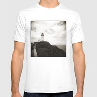 { Light House } Mens Fitted Tee White SMALL