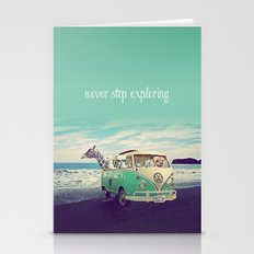 NEVER STOP EXPLORING THE… Stationery Cards