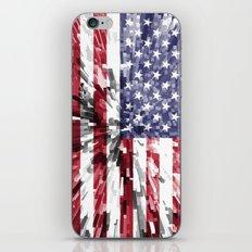 America Flag Extrude iPhone & iPod Skin