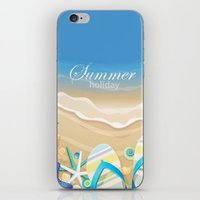 Summer holiday iPhone & iPod Skin