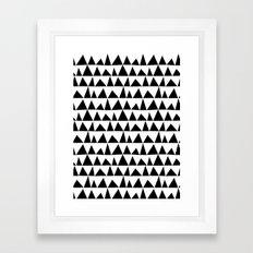 Playful Triangles Framed Art Print