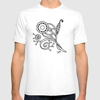 Ornate Square Zentangle,… Mens Fitted Tee White SMALL