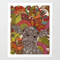 Arabella And The Flowers Art Print