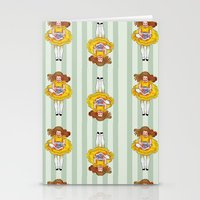 Alice Down the Rabbit Hole stripe Stationery Cards