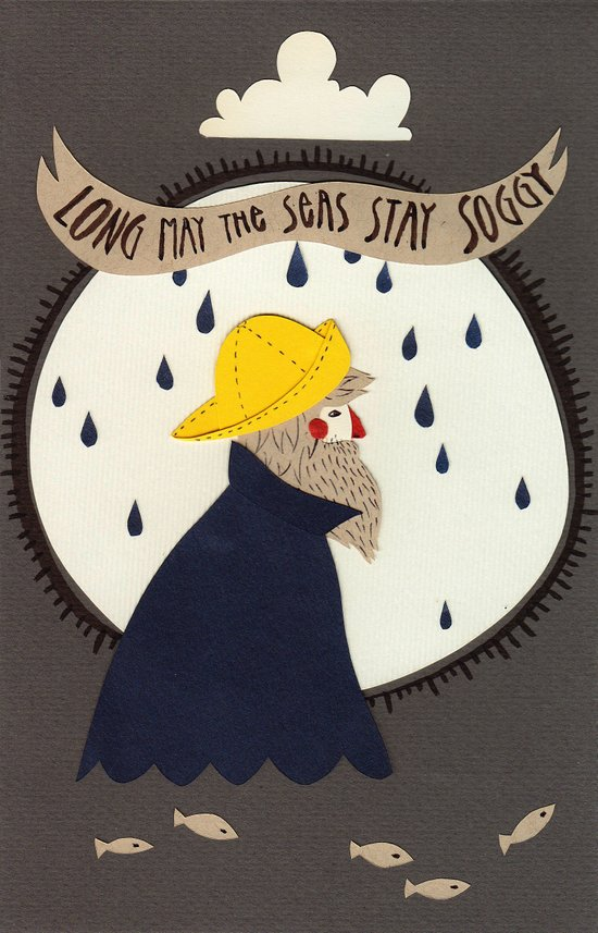 Long may the seas stay soggy Art Print