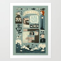 SeaWays Art Print