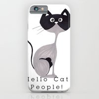 iPhone & iPod Case featuring Hello Cat People by  MaiCat