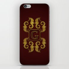 Letter G Seahorse iPhone & iPod Skin