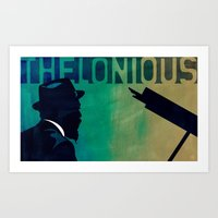 Thelonious in Blue Art Print