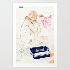 Out of words Art Print