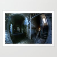 Horror hallway Art Print
