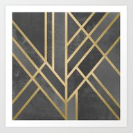Art Deco Geometry 1 Art Print